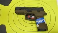 "SIG SAUER P250 COMPACT FDE 9MM PISTOL 15 ROUND MAG WITH 4"" BARREL AND NIGHT SIGHTS"