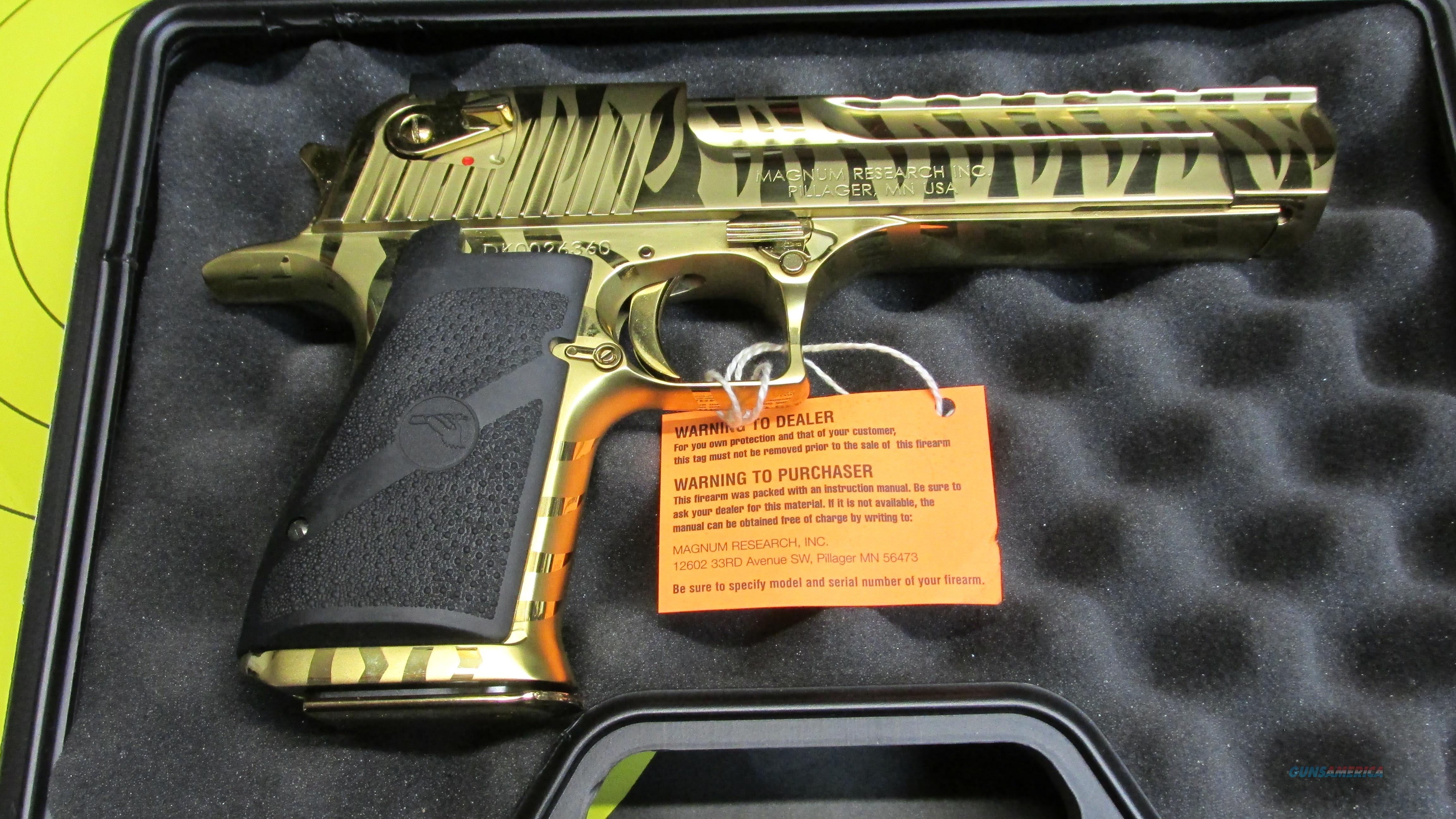 Magnum Research Titanium Gold Tiger Stripe Dese For Sale