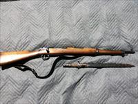 Spanish Mauser 7.62 X 51 MM bolt action rifle with bayonet