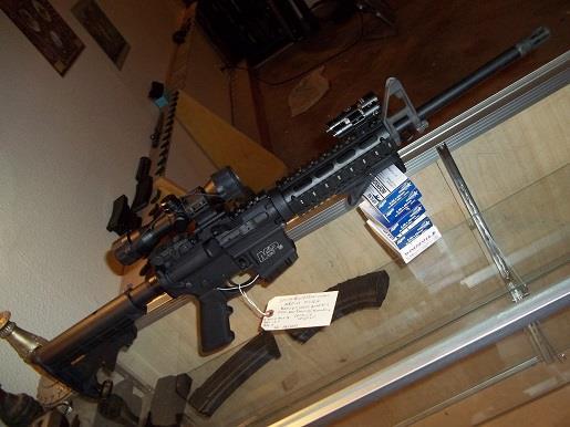Smith U0026 Wesson Mu0026P 15 With Flash Light, Laser , Quad Rail , Scope
