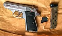 Smith & Wesson, S&W, Walther, Stainless PPK/S, 380 caliber, 2 mags, Excellent
