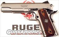 Ruger Stainless 1911, full size, 45 caliber, 2 mags, NIB