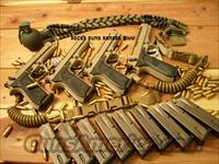 BERETTA RANGER ISSUE TWO SEQUENTIAL SERIAL NUMBER M9 9MM W/ ISSUE CASES / SAND MAGAZINES