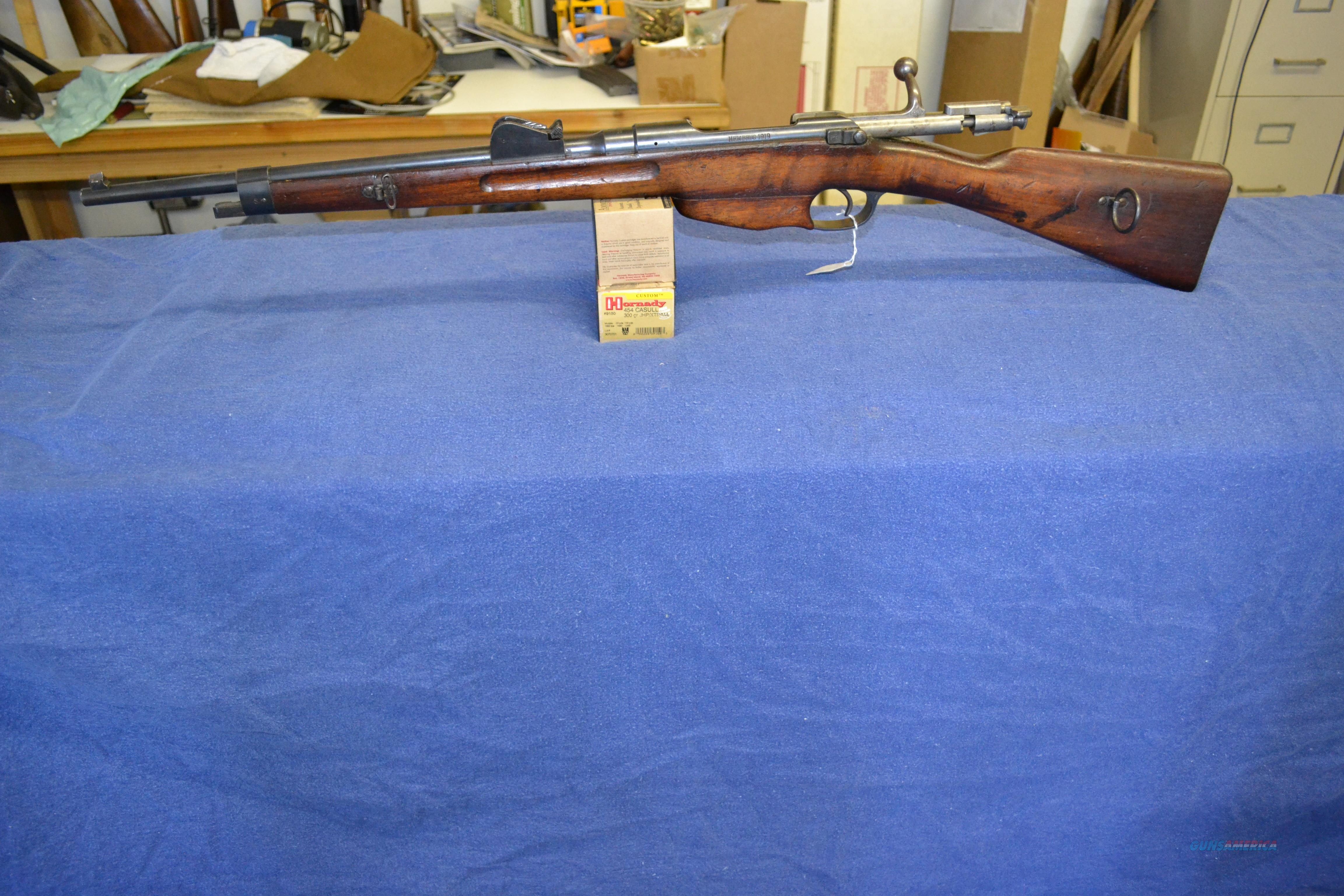 Dutch/Netherlands cavalry carbine in 6 5 X 50 M    for sale