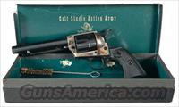 COLT SAA 2ND GENERATION IN .38 SPECIAL WITH 5 1/2 INCH BARREL AND BLUE/CASE COLOR FINISH IN BLACK BOX!!