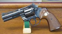 COLT PYTHON, BLUE, 4 INCH VENT RIBBED BARREL FROM 1978