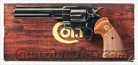 WONDERFUL COLT PYTHON IN .357 MAGNUM WITH 6 INCH RIBBED BARREL FROM 1981.