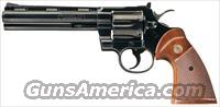 WONDERFUL AS NEW COLT PYTHON WITH 6 INCH VENT RIBBED BARREL AND BLUE FINISH FROM 1981!!
