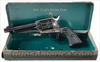 COLT 2ND GEN SAA .45, FIRST YEAR PRODUCTION, WITH 5 1/2 INCH BARREL IN BLUE. NEW IN ORIGINAL BLACK BOX!!