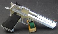 IMI DESERT EAGLE MARK VII .357 MAGNUM PISTOL IN SATIN NICKEL WITH EXTRA FACTORY MAGAZINES STILL IN ORIGINAL PACKAGING.