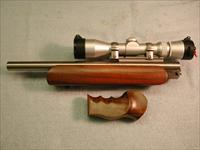 T/C Contender Bullberry .223 Ackley Improved, scope, forearm, grip, die set