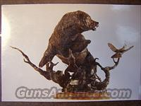 Bronze Sculpture of a famous Grizzly Bear - Old Ephraim, AKA - Ol' Three Toes