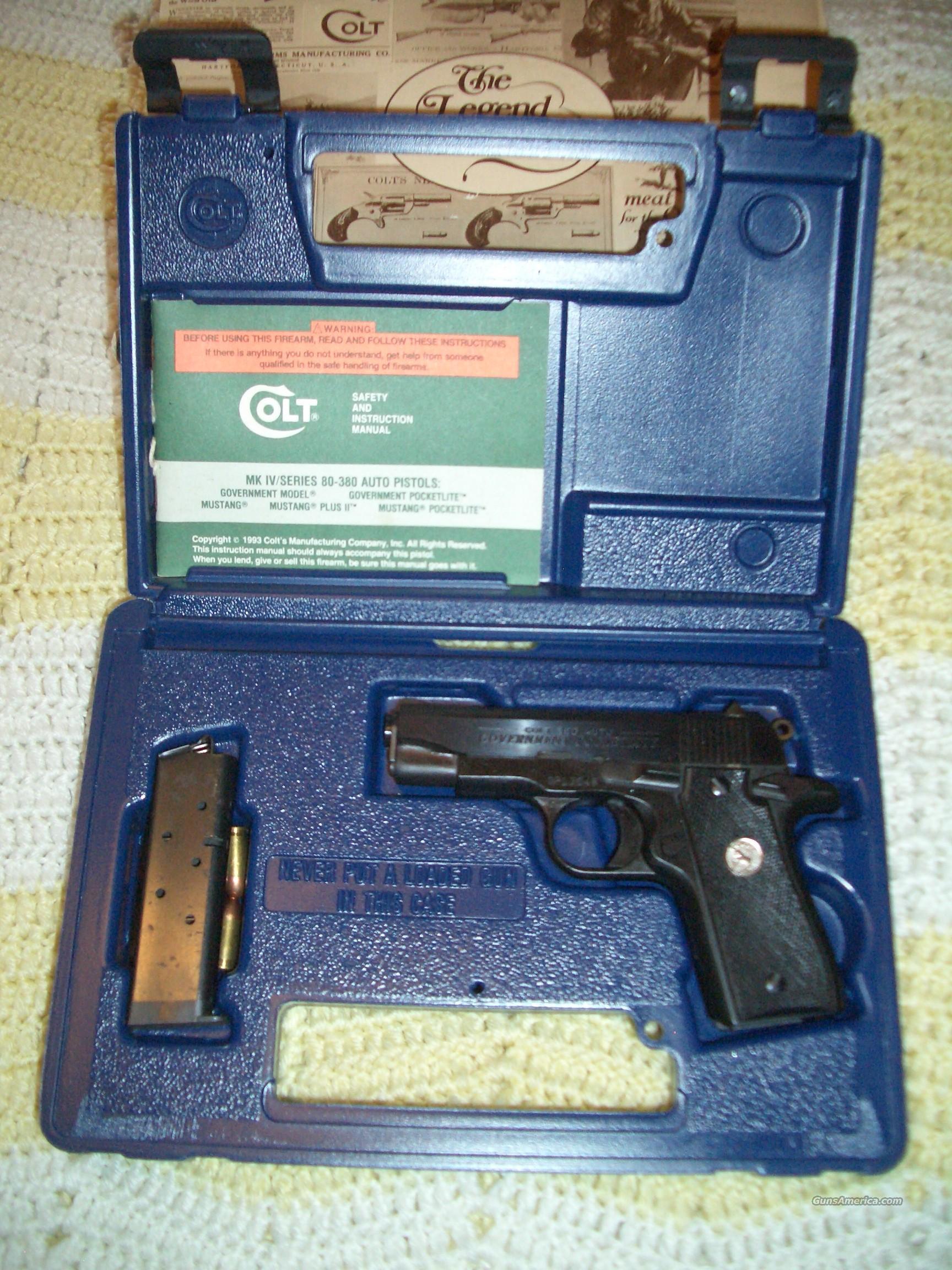 Colt 25 Manual Taurus Acp Schematic Automatic Calibre Array 380 Government Pocketlite 3 Barrel For Sale Rh Gunsamerica Com