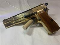 Browning Hi-Power 1968 24kt Gold Hand Engraved 'T' Series, Ring Hammer