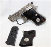 Beretta 950B EL 25acp 6.35 Nickel Engraved used