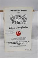 Ruger no 3 single shot manual original 1978