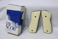 Jay Scott S&W 38 master 9mm double grips fake ivory NEW