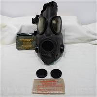 US M17 A1 gas mask used with accessories