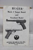 Ruger MKI Target and Standard model manual original