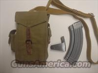 4 NEW AK 47 30 rnd mags + Rare Original Military canvas mag pouch and original speedloader