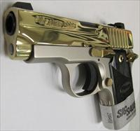 Sig Sauer P238 Exclusive Platinum Gold 380 ACP