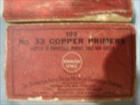 VINTAGE REMINGTON- UPC- COPPER PRIMERS  ,NO. 33