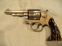 S&W MODEL 10- MILITARY & POLICE,  NICKEL , .38 SPECIAL