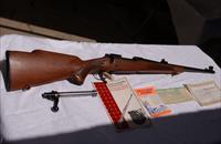 Winchester M70 made in 1973, 308 cal. push feed with iron sights.