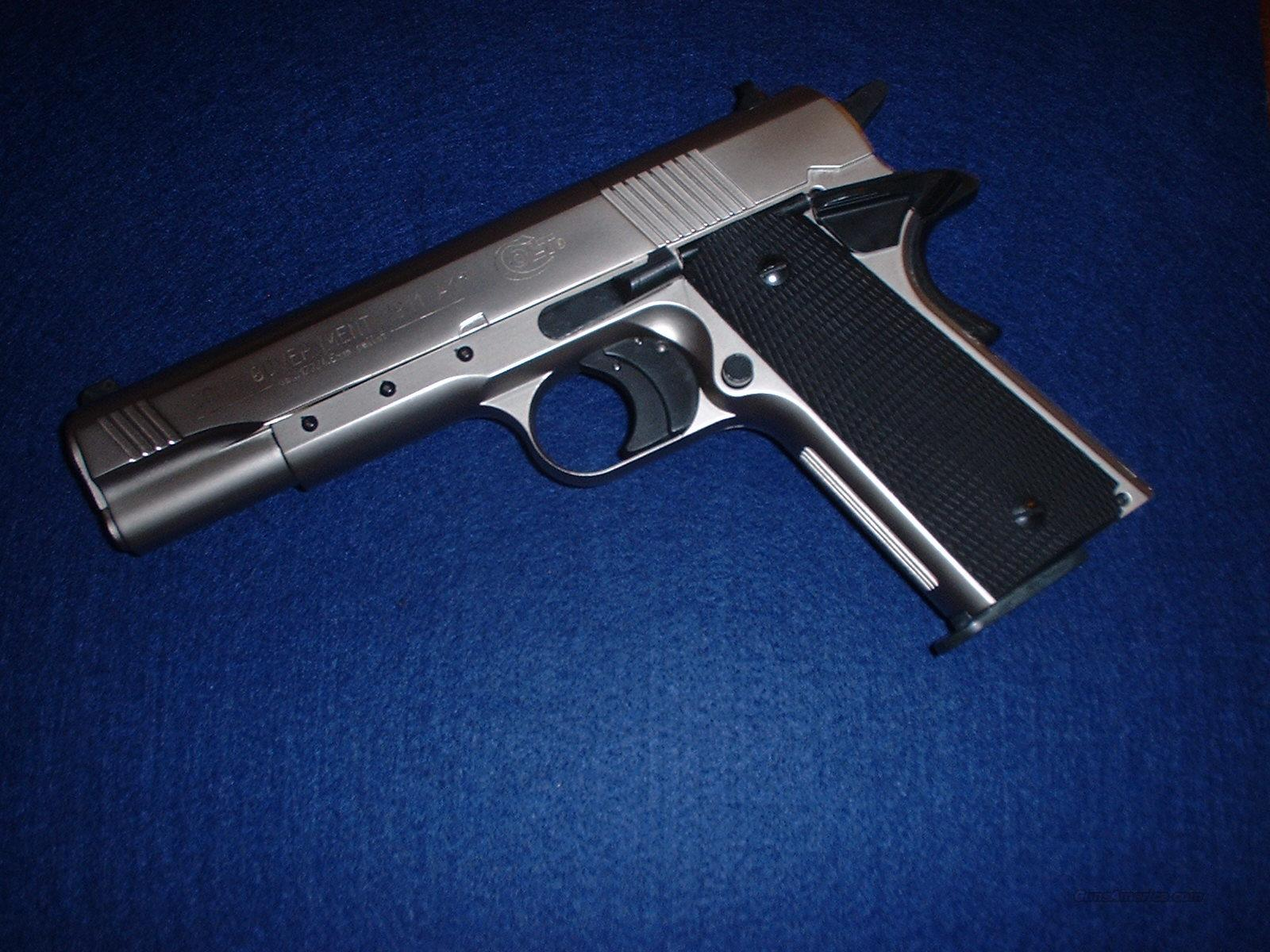 Colt 1911-A1 Nickel Finish  177 Pellet Co2 Pistol, Original Colt Marketed  Model, Not Umarex -PRICED REDUCED FOR X-MAS- SAME DAY EXPRESS SHIPPING