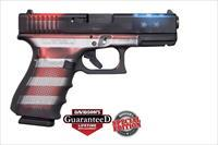 GLK 19 GEN4 9MM 15R CKBWFLAG - Apollo Custom Edition;Battlework Cerakote USA Flag