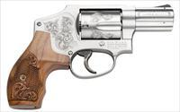 "S&W MODEL  640 CENTENNIAL "" ENGRAVED FRAME & STOCK "" STAINLESS 5 ROUND - DOUBLE ACTION ONLY "" ON SALE """