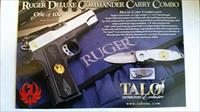 RUGER DELUXE COMMANDER CARRY COMBO  .45 W/MATCHING CRKT SQUID POCKET KNIFE DESIGNED BY LUCAS BURNLEY -
