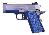 "COLT CUSTOM NAVY  DEFENDER - 1 0F 350 - TALO EXCLUSIVE - 3"" BARREL - NAVY BLUE W/G-10 BLU GRIPS"