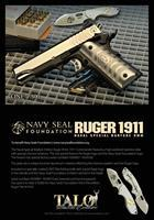 US NAVAL SPECIAL WARFARE RUGER 1911 COMMANDER TALO EDITION & CRKT PILAR FOLDING KNIFE