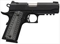 ***REDUCED*** BROWNING BLACK LABEL - 1911-380 PRO - RAIL - NIGHT SIGHTS - G10 COMPOSITE GRIPS -