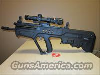 BRAND NEW IWI TAVOR SAR BULLPUP 223/5.56 TACTICAL RIFLE PACKAGE- NEW TRIJICON TR24 1-4X24 - BAC-RED TRIANGLE SCOPE -TRITIUM (GLOW) TROY FLIP UP REAR AND FRONT SIGHTS - MATCHING TRIJICON ACCUPOINT MOUNT-400 LUMEN FLASHLIGHT - 6 IWI MAGS