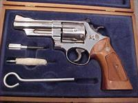 SMITH WESSON 57 NICKLE 41 MAG WOODEN CASE