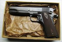 COLT 1938 1911A1 WITH RARE WWI SAVAGE 1911 SLIDE