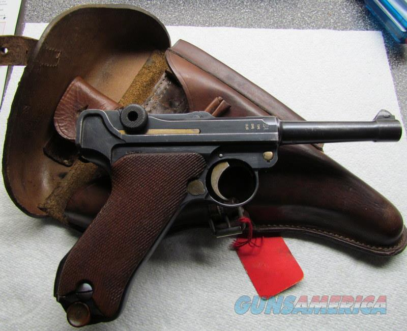GERMAN LUGER DMW 1908/14 WWI DATED 1917 WITH 1918 HOLSTER AND ORIGINAL TOOL