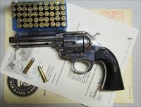 COLT BISLEY 32/20 1912 REVOLVER WITH COLT LETTER AND AMMO