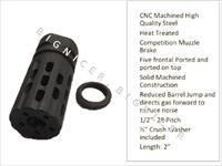 Levang Linear style muzzle brake top hole 1/2x28