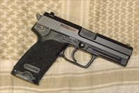 H&K USP .45 with Stippled Grip & Laser Etched Crusdaer Cross & Shield on Slide