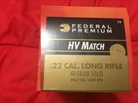 Federal Gold Match 22 LR, 1500 rounds in 3 boxes