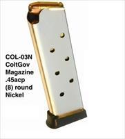 NEW Colt 1911 Magazine 45 ACP 8rd Nickel PRO MAG