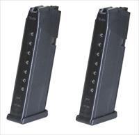 2 Glock 17 Magazines 10rd 9mm NEW OEM G17 Mag MAGS