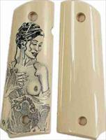 Colt 1911 Real Ivory Scrimshaw with Nude Lady