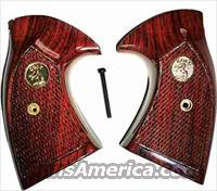 Colt Detective Special 3rd Model Rosewood Checkered w Medallions