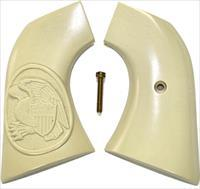 Ruger New Vaquero 2005 Real Ivory Grips, Eagle & Shield in Oval