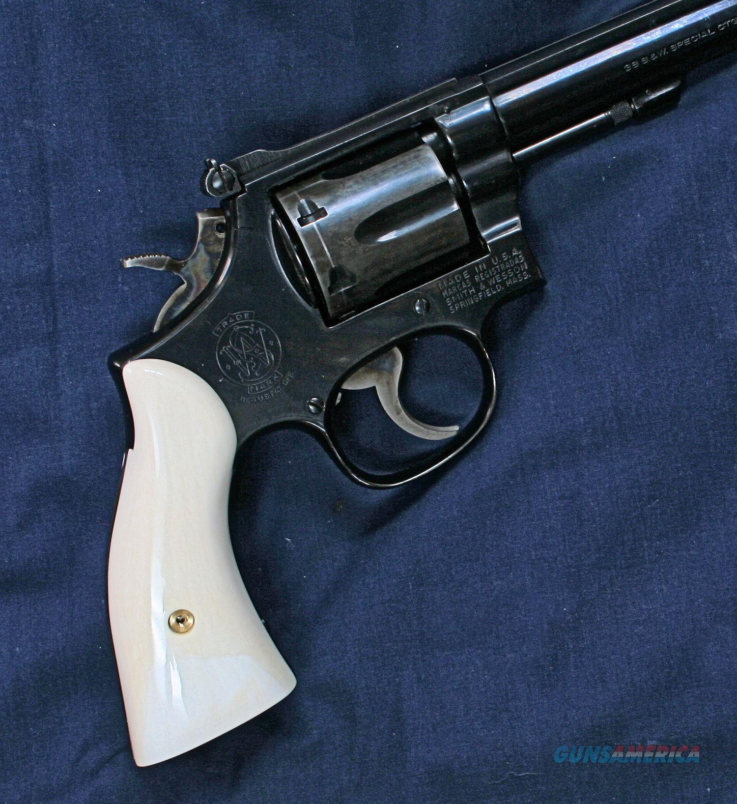 Smith & Wesson K Frame Grips, Real Ivory, Squar... for sale