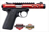 Ruger 22/45 Lite Mark IV 22LR Pistol - Red Finish